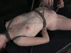 Wax played hogtied pierced...